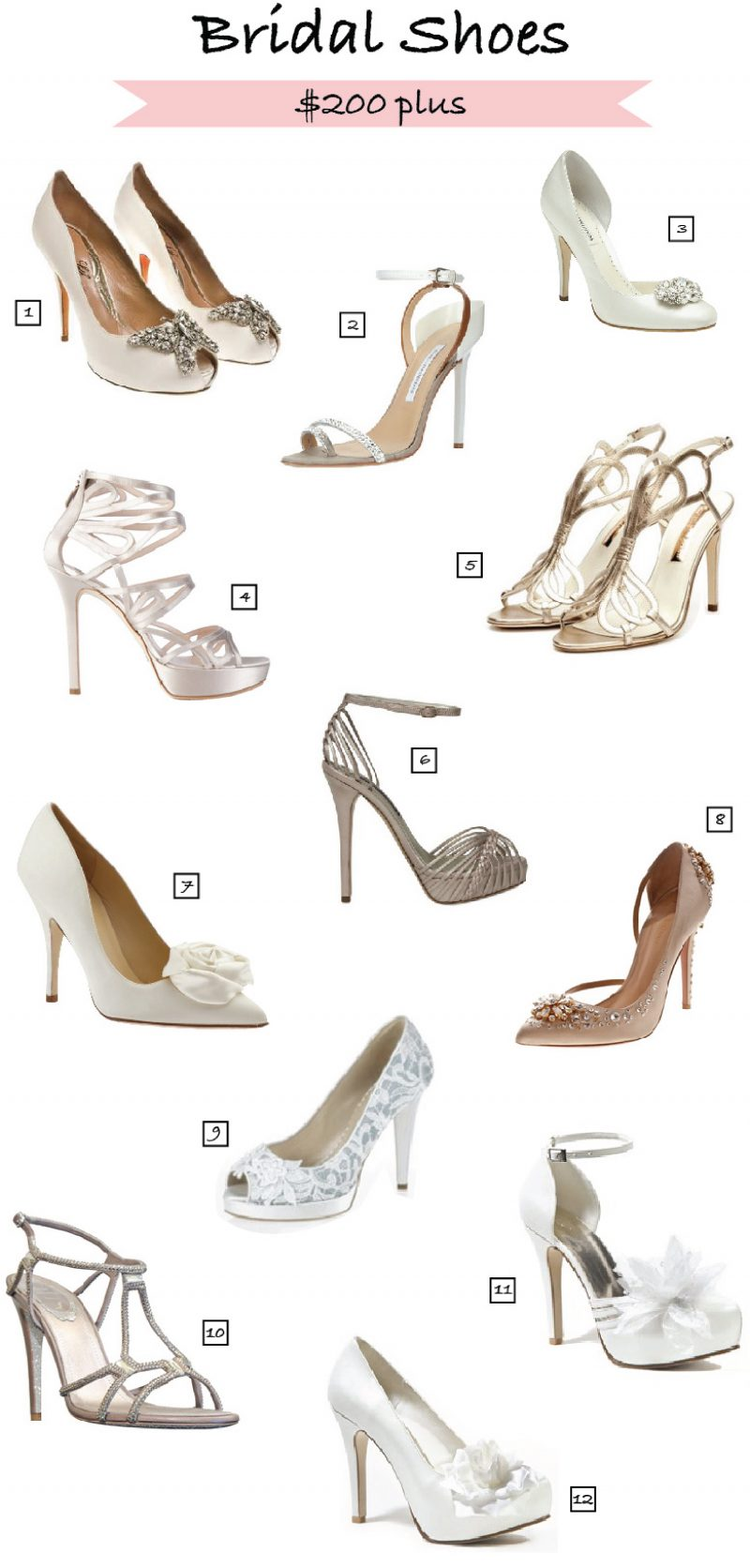 Pretty Bridal Shoes over $200