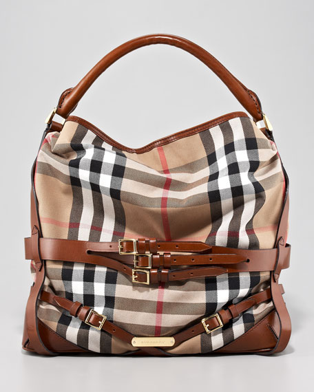 Burberry – Belted Check Hobo