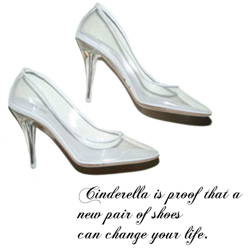 Cinderella's Glass Slippers // Shoes by Marc Jacobs