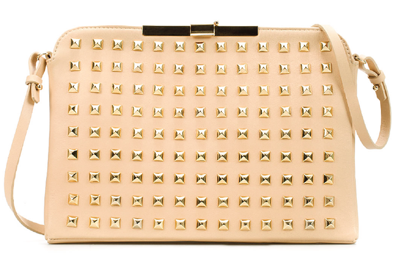 8744a47a902 Zara - Studded Clutch With Clasp Fastening | A Side Of Style