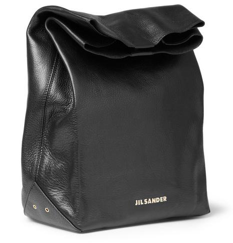 Jill Sander Leather Lunch Bag