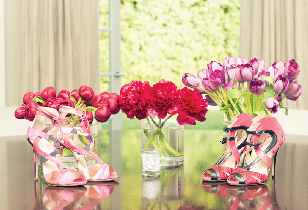 Flowers and Heels, Shoe Lover, Monique Lhuiller, The Coveteur, Closets, Home Decor, Shoes, Pink Heels, Coral