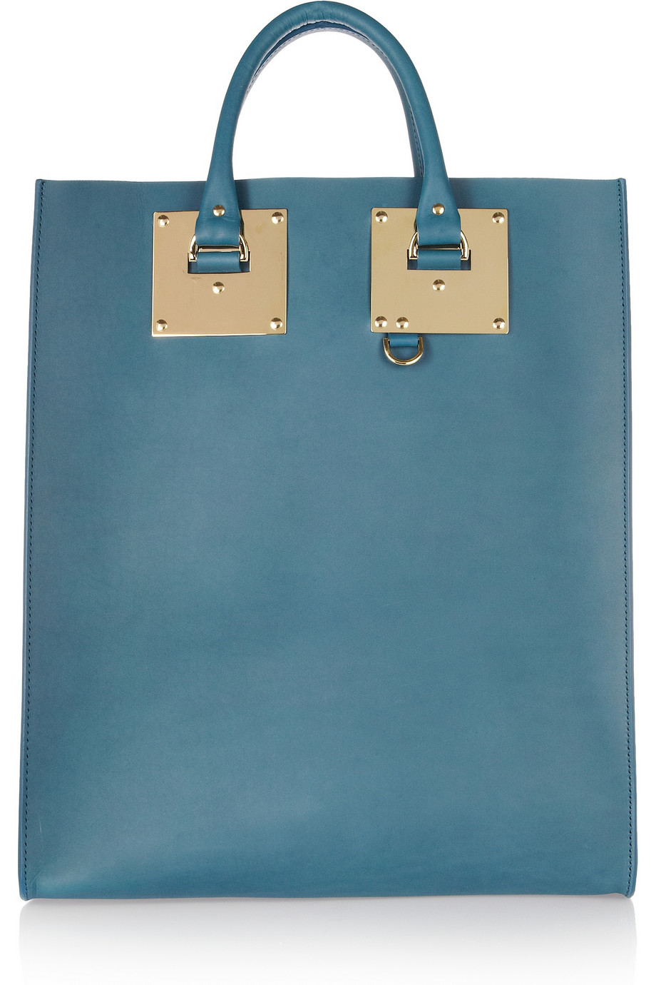 Sophie Hulme – Leather Tote in Brillian Blue