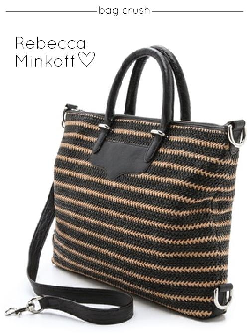 Bag Crush: Rebecca Minkoff – Woven Straw Bonnie Satchel