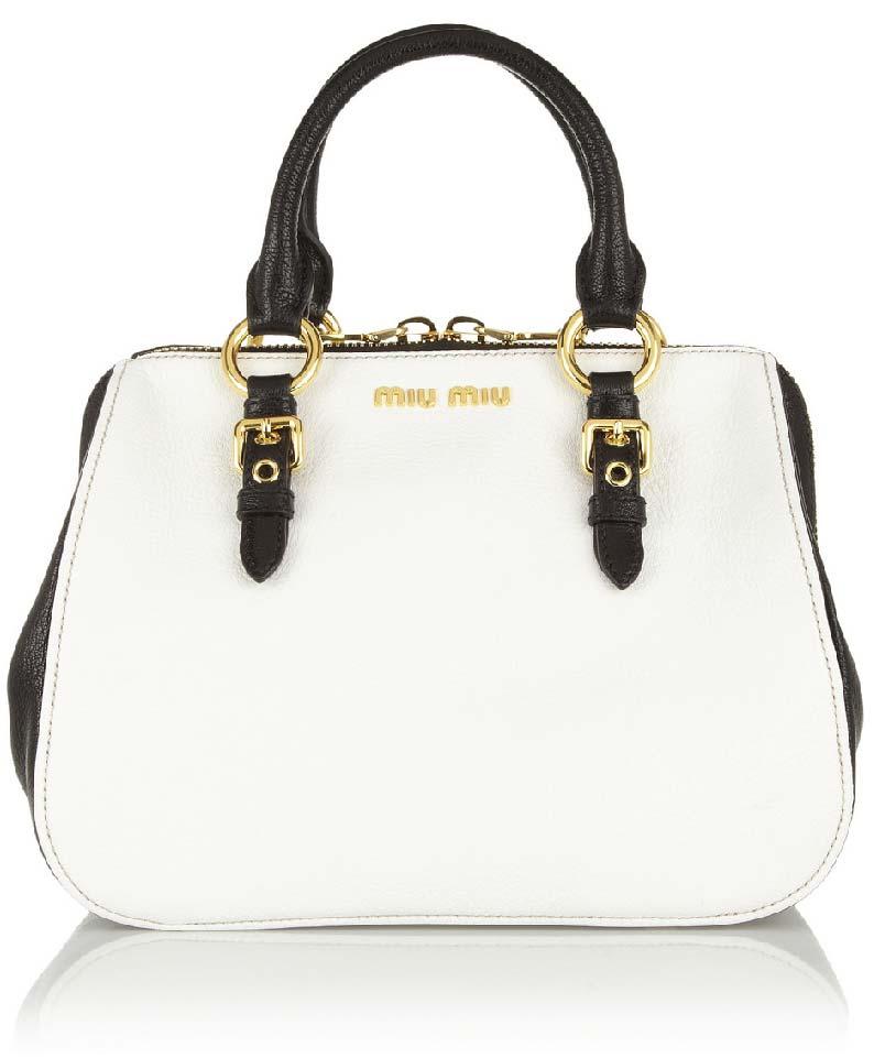 Bag Crush: Miu Miu – Madras Leather Tote