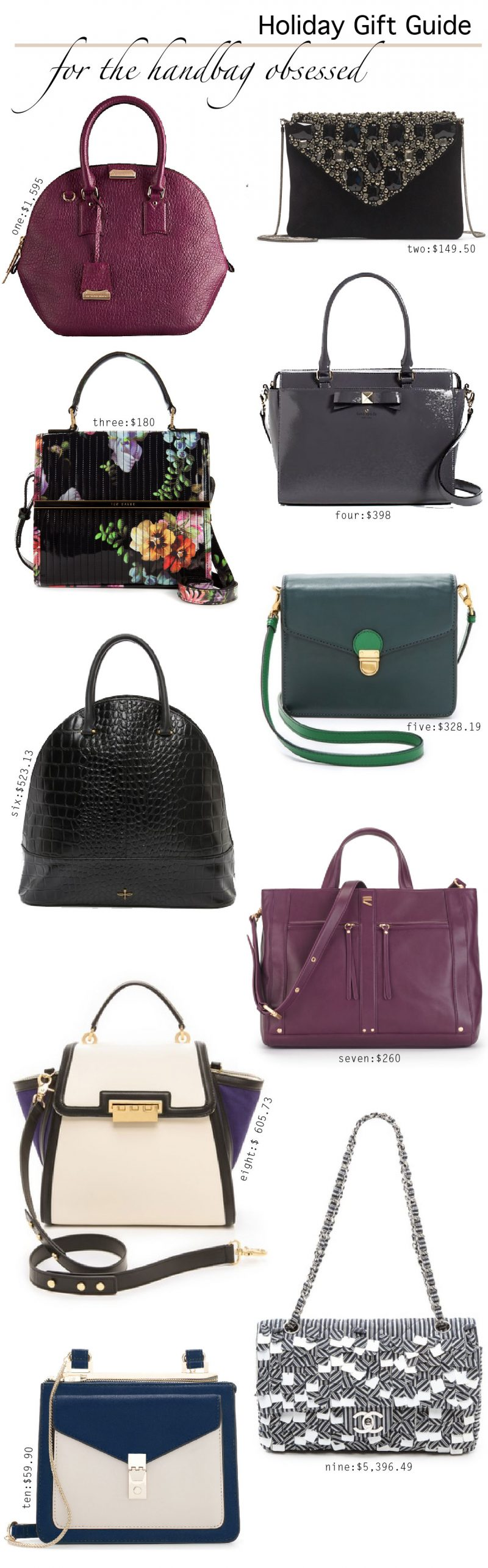 Holiday Gift Guide {For The Handbag Obsessed}