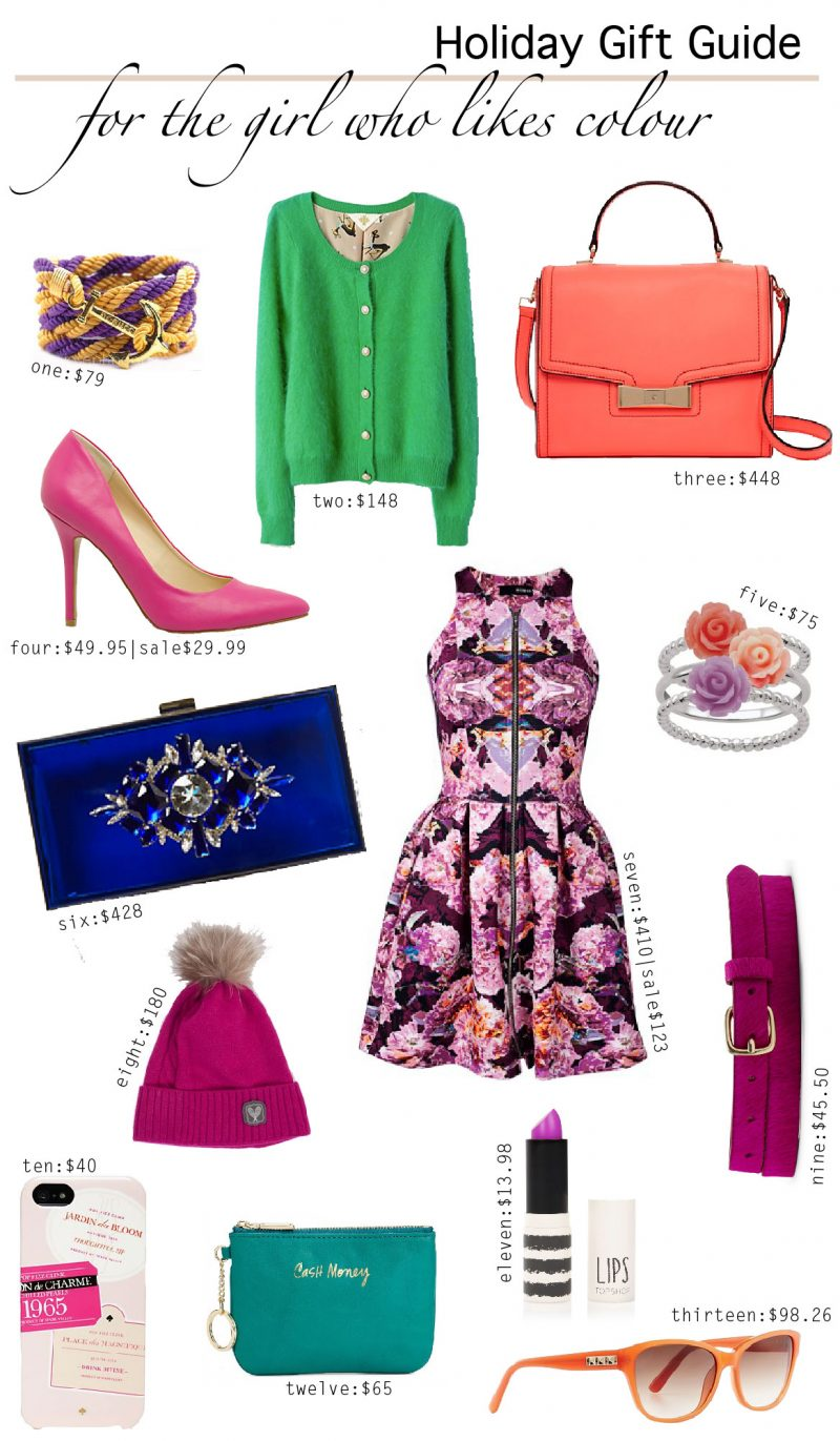 Holiday Gift Guide {For The Girl Who Likes Colour}