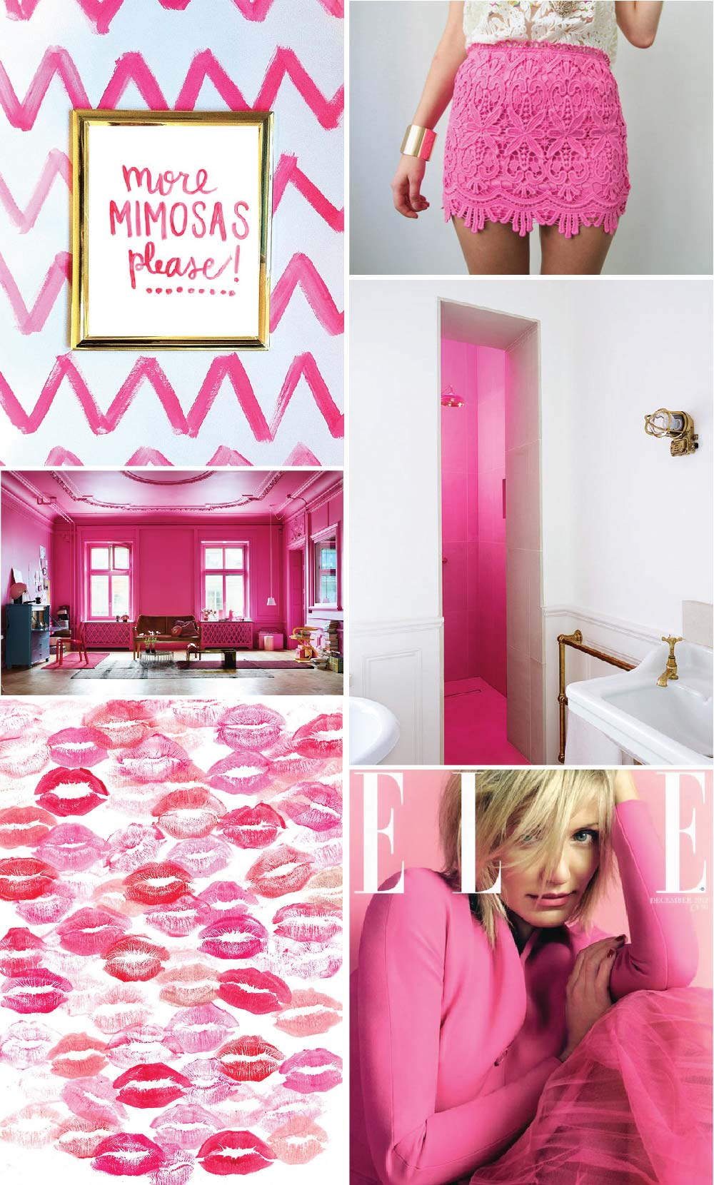 Inspiration Board: Hot Pink Colour Inspiration For A Pretty Life