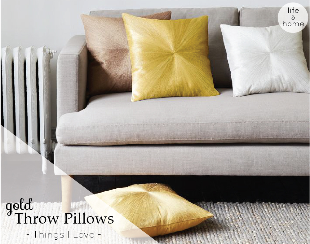 Decorative Pillows At West Elm : Gold Throw Pillows from West Elm A Side Of Vogue