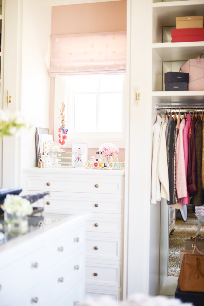 A Gorgeous Office Closet {Rach Parcell from Pink Peonies}