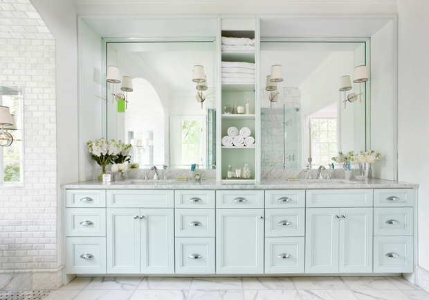 Bathroom-Home-Inspiration-His-And-Hers-Sinks-powder-blue