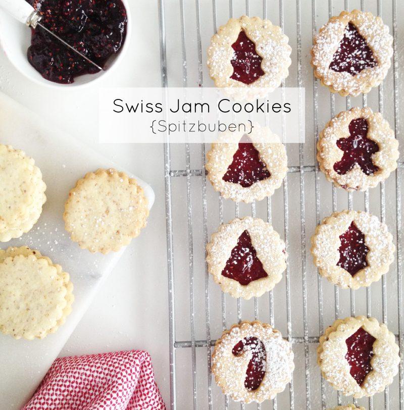 Swiss Jam Cookies {Spitzbuben}