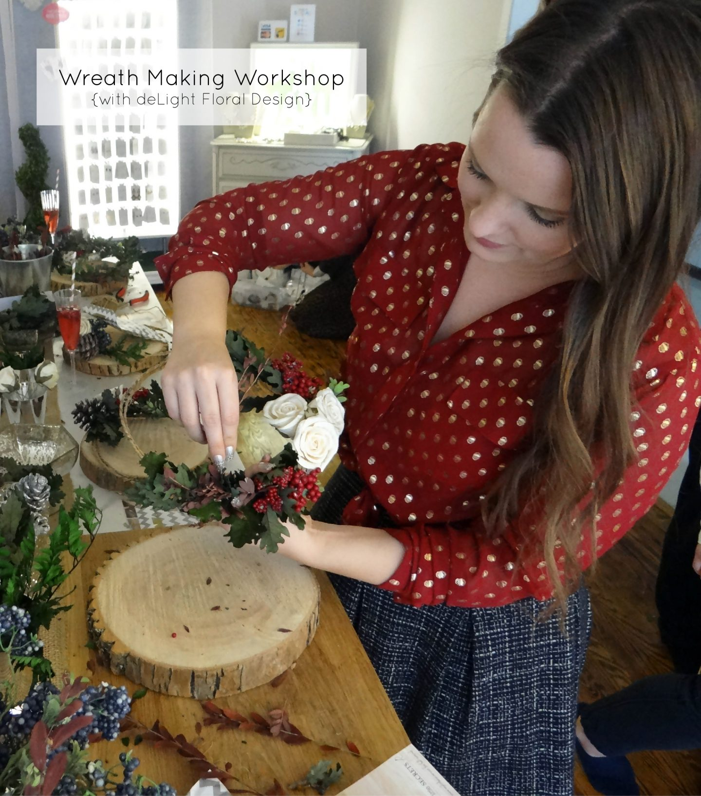 Wreath Making Workshop {with deLight Floral Design}