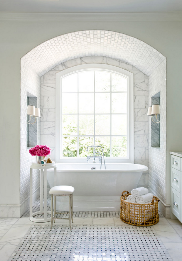 arched-ceiling-beautil-bathrooms-cast-iron-tub-french-windows