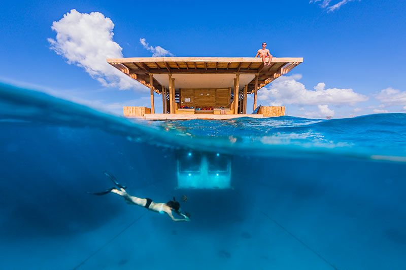 Travel // An Underwater Hotel Room, The Manta Resort