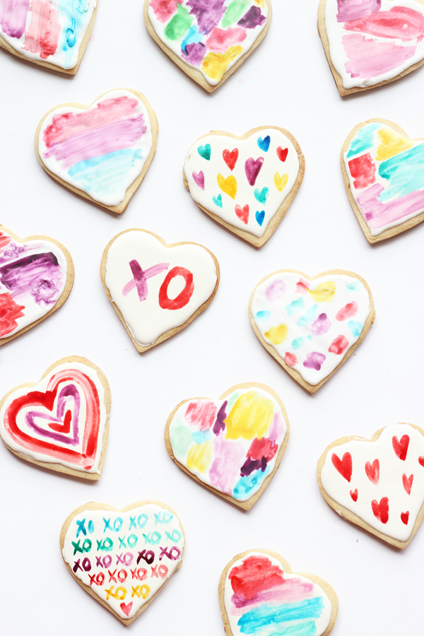 Watercolour Heart Sugar Cookies Decorating Valentine S Day A Side