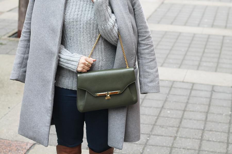 Casual Style Ideas, Grey Outfit, Kara Ross Handbag