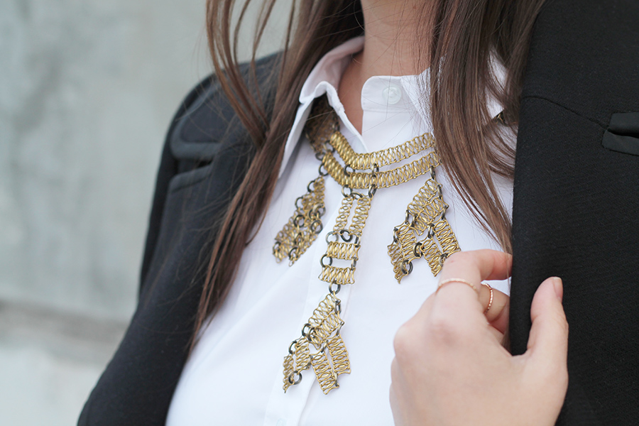 Outfit Brass Lace Chain Necklace A Side Of Style