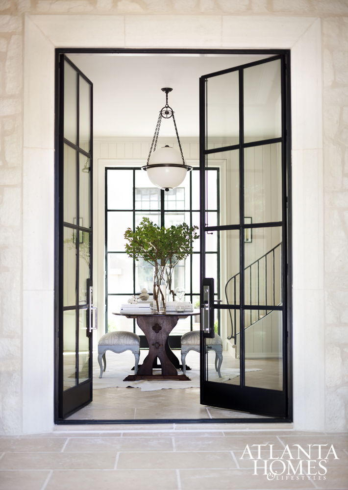 French Exterior Doors Steel: Home Inspiration // Coastal Modern Drama
