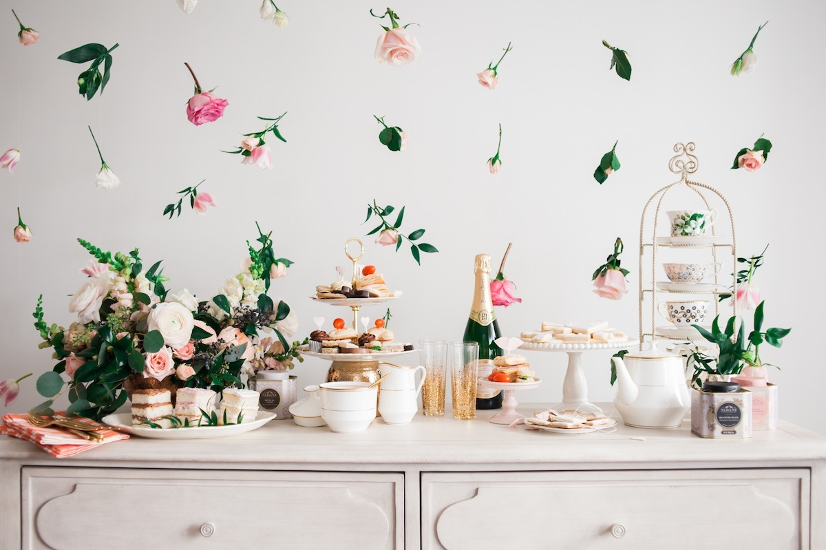 valentine 39 s day high tea party a side of vogue. Black Bedroom Furniture Sets. Home Design Ideas