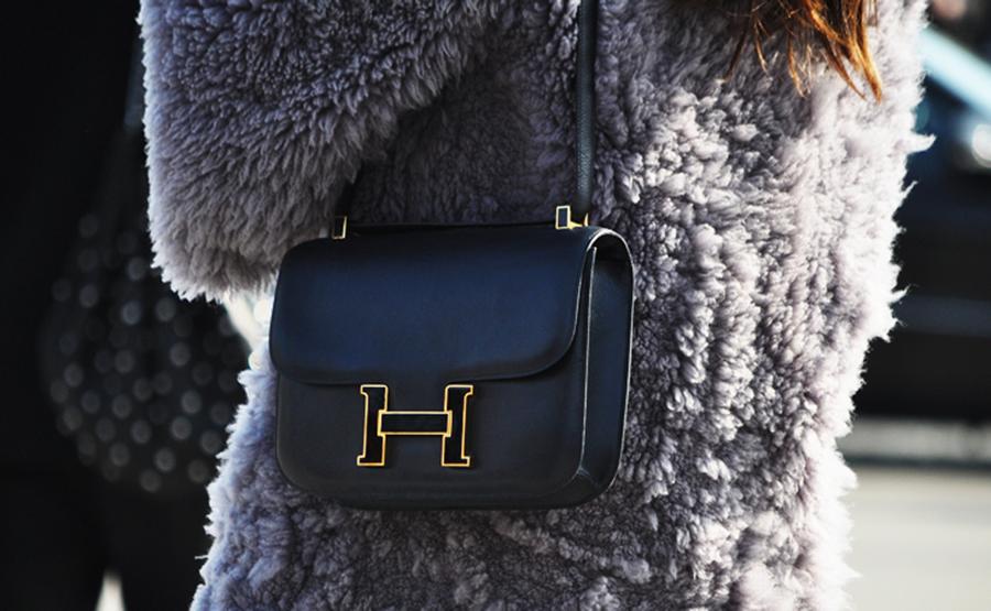 Hermes Constance Crossbody Shoulder Bag, Black and Gold Hardware, Handbags to Invest In