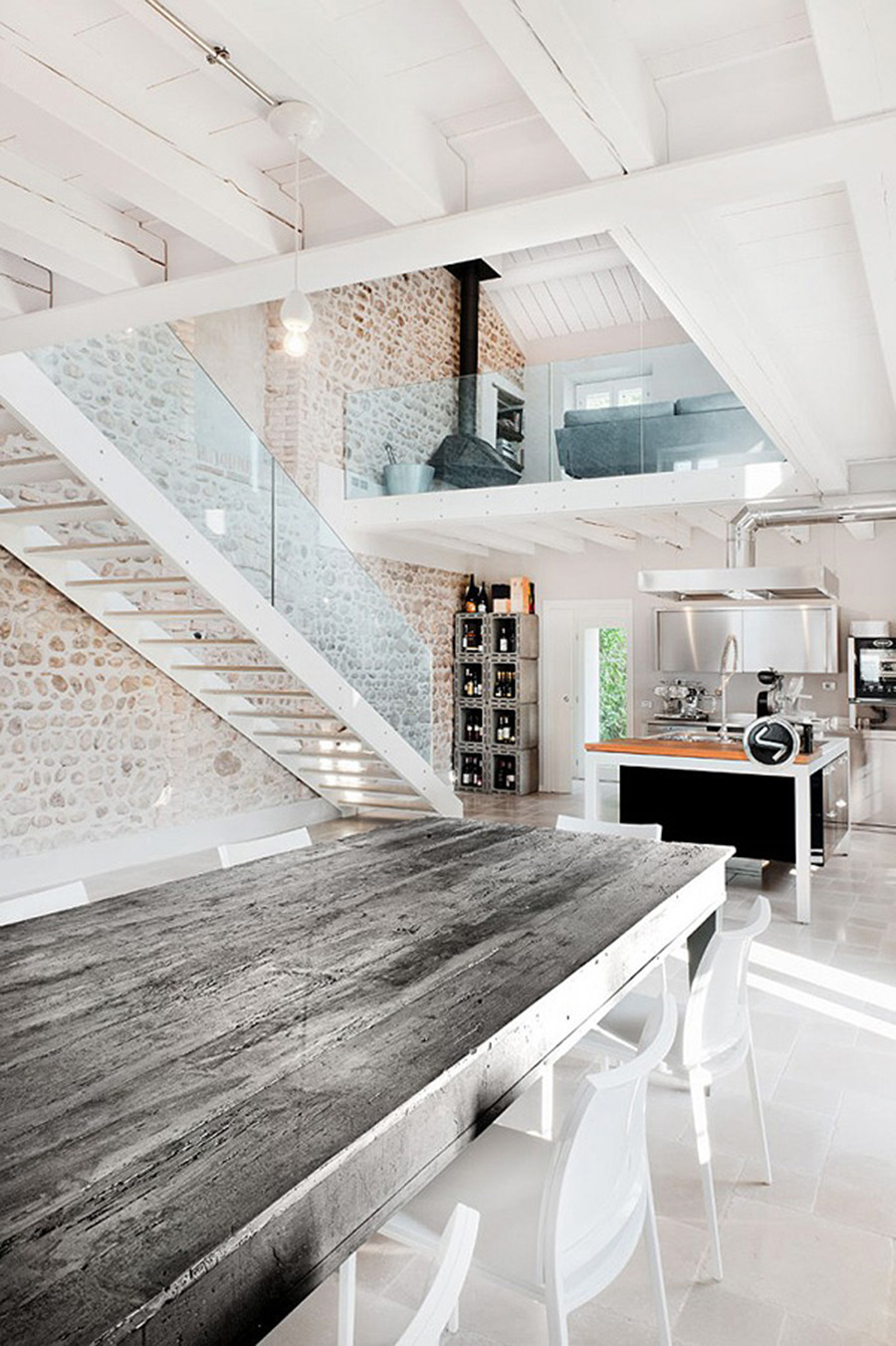 Home Inspiration Italian Villa With An Industrial