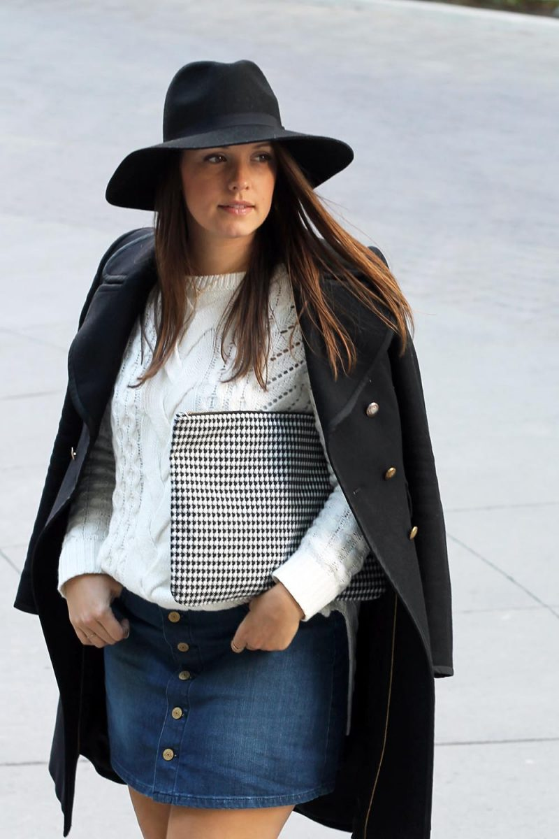 Outfit // Button Up Denim Skirt