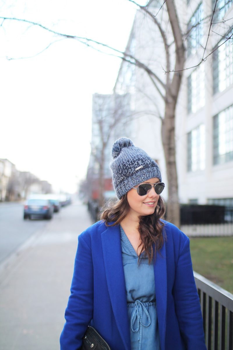 Outfit // How I Winterized My Chambray Dress