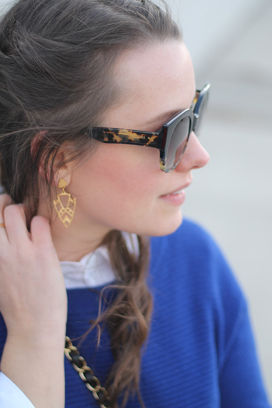 Geometric Gold Earrings, Foxy Originals Jewellery, TOMS Sunglasses, Toronto Fashion Blogger