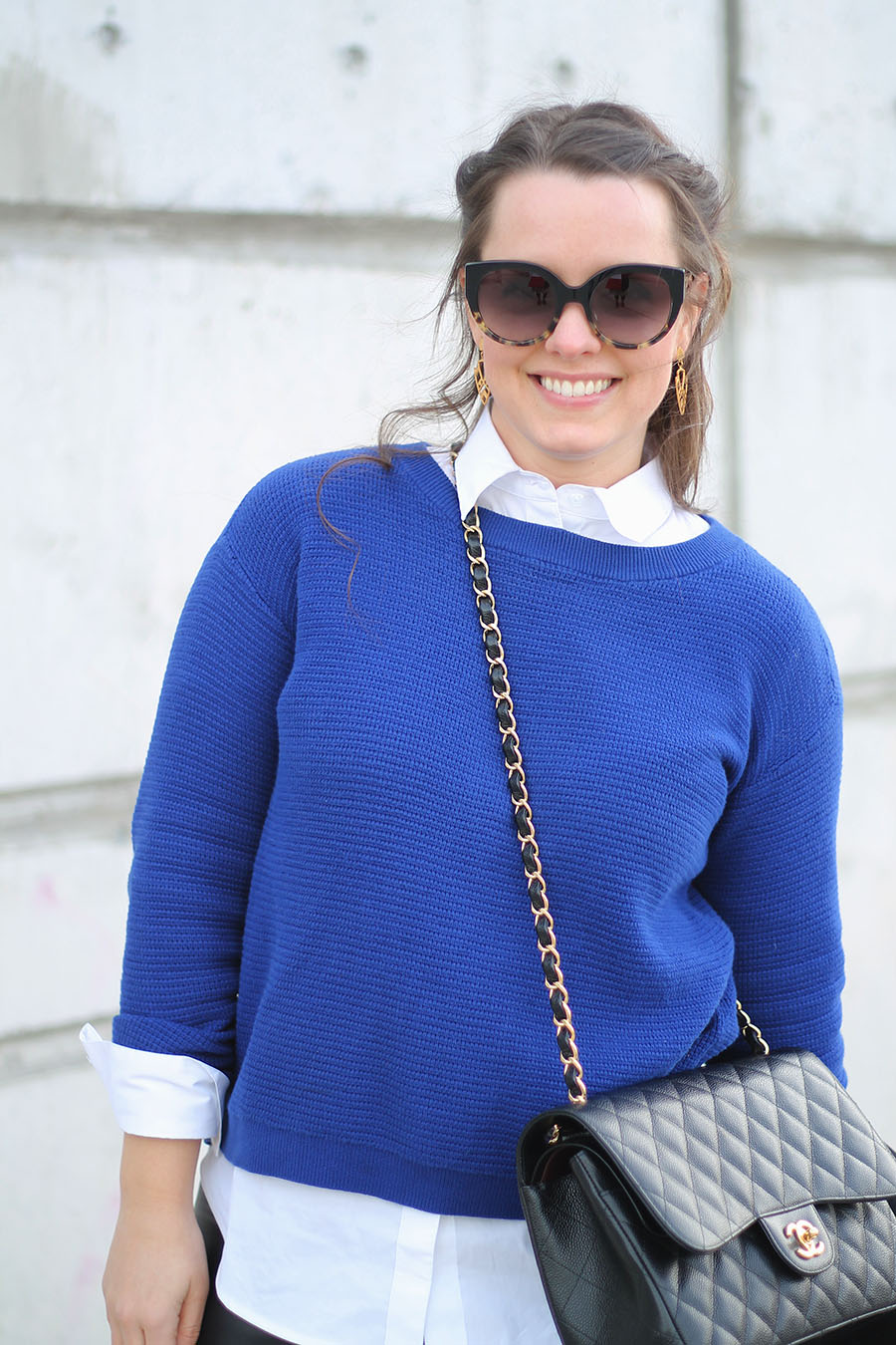 Outfit // Collared Shirt Under A Sweater | A Side Of Style