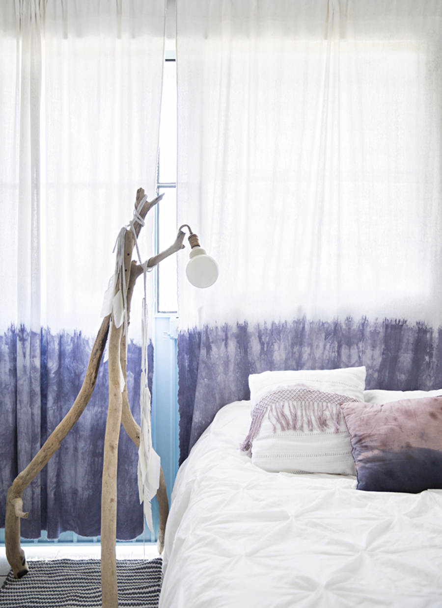Boho Decorating, Dip Died Curtains, Tie Dye Decor, Home Tour, Bedroom Inspiration