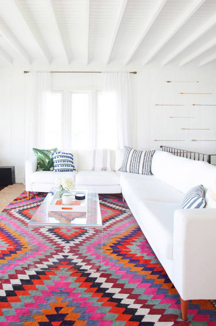 Home Tour, House Inspiration, Decorating, Interior Design, Living Room, Colorful Rug
