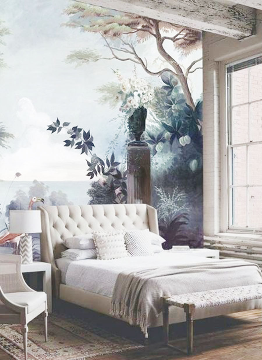Kv condo wallpaper wall murals a home decor trend i 39 m for Nature wallpaper for bedroom
