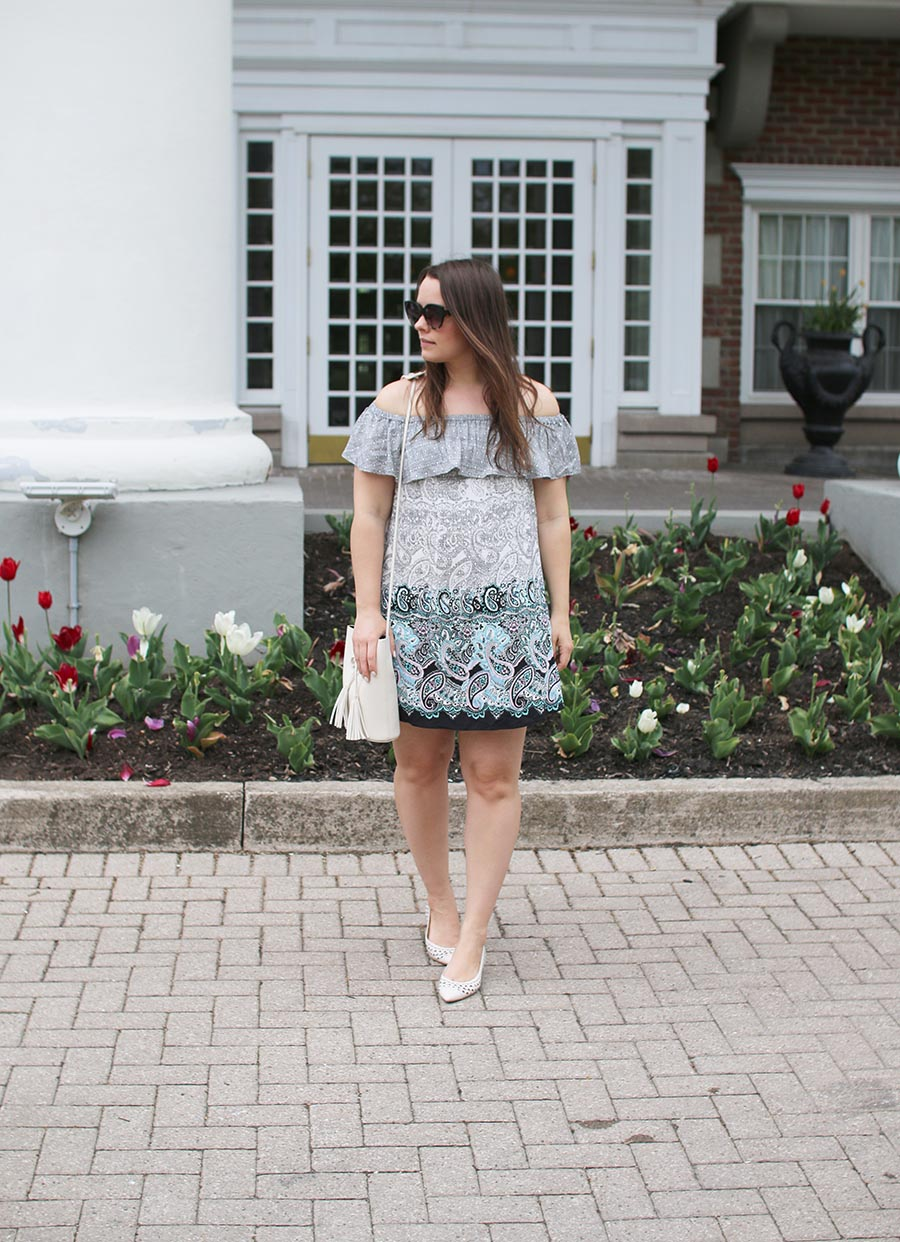 Outfit // Easy Travel Style: Off The Shoulder Summer Dress