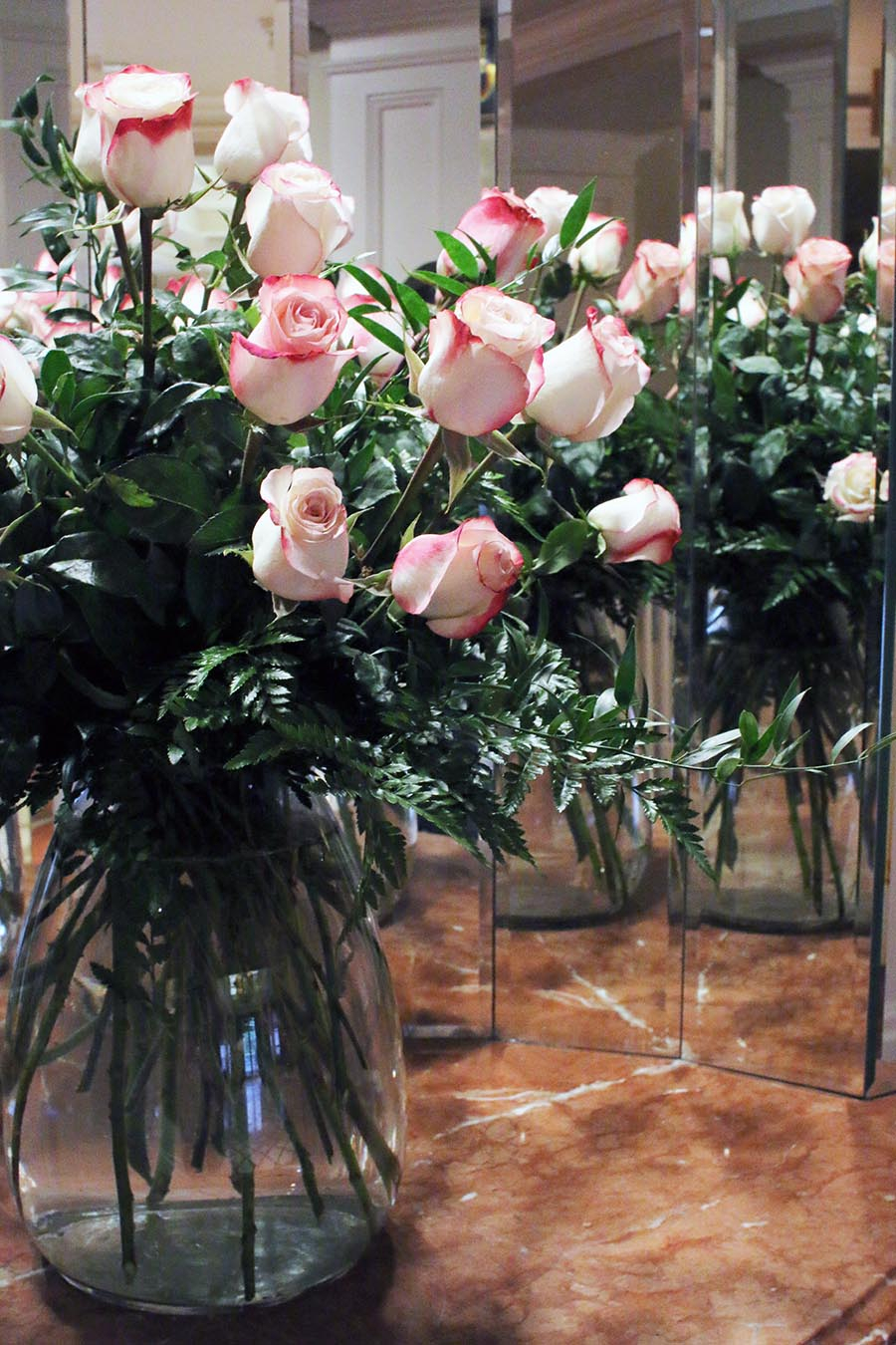 white-roses-with-pink-tips