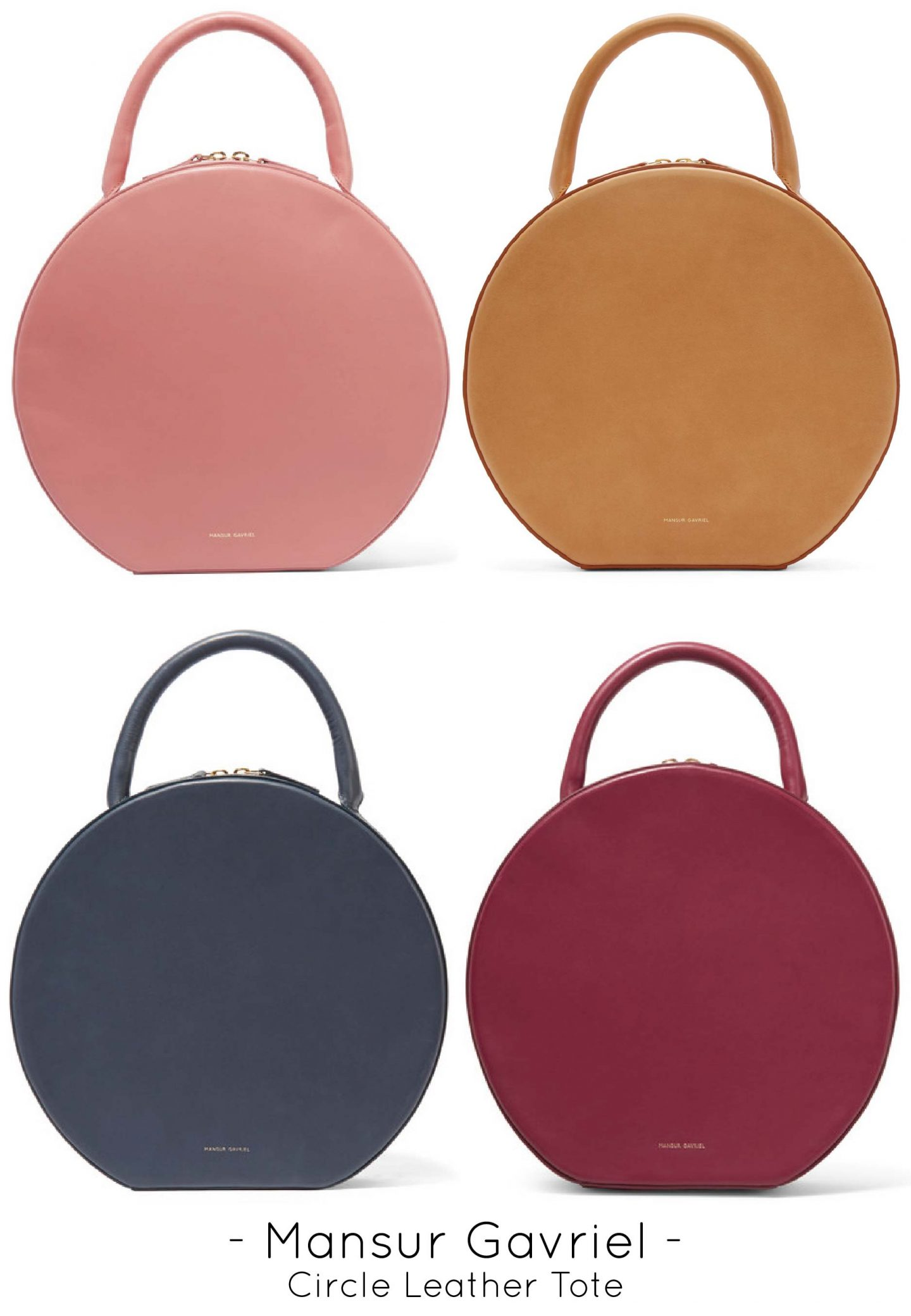 Mansur Gavriel Circle Leather Tote Bag, Designer Handbags
