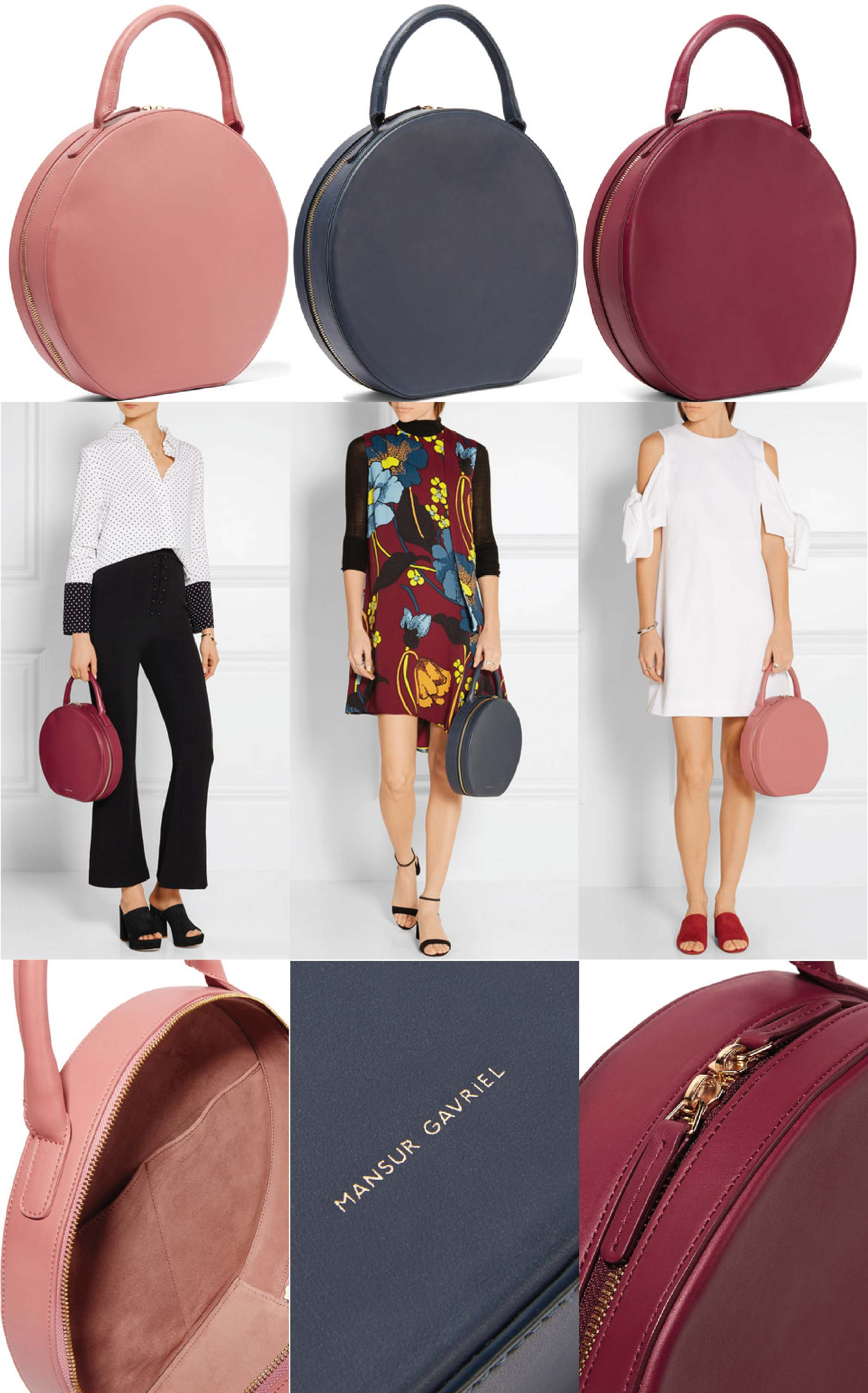 Mansur Gavriel Handbags, Circle Leather Tote Bag