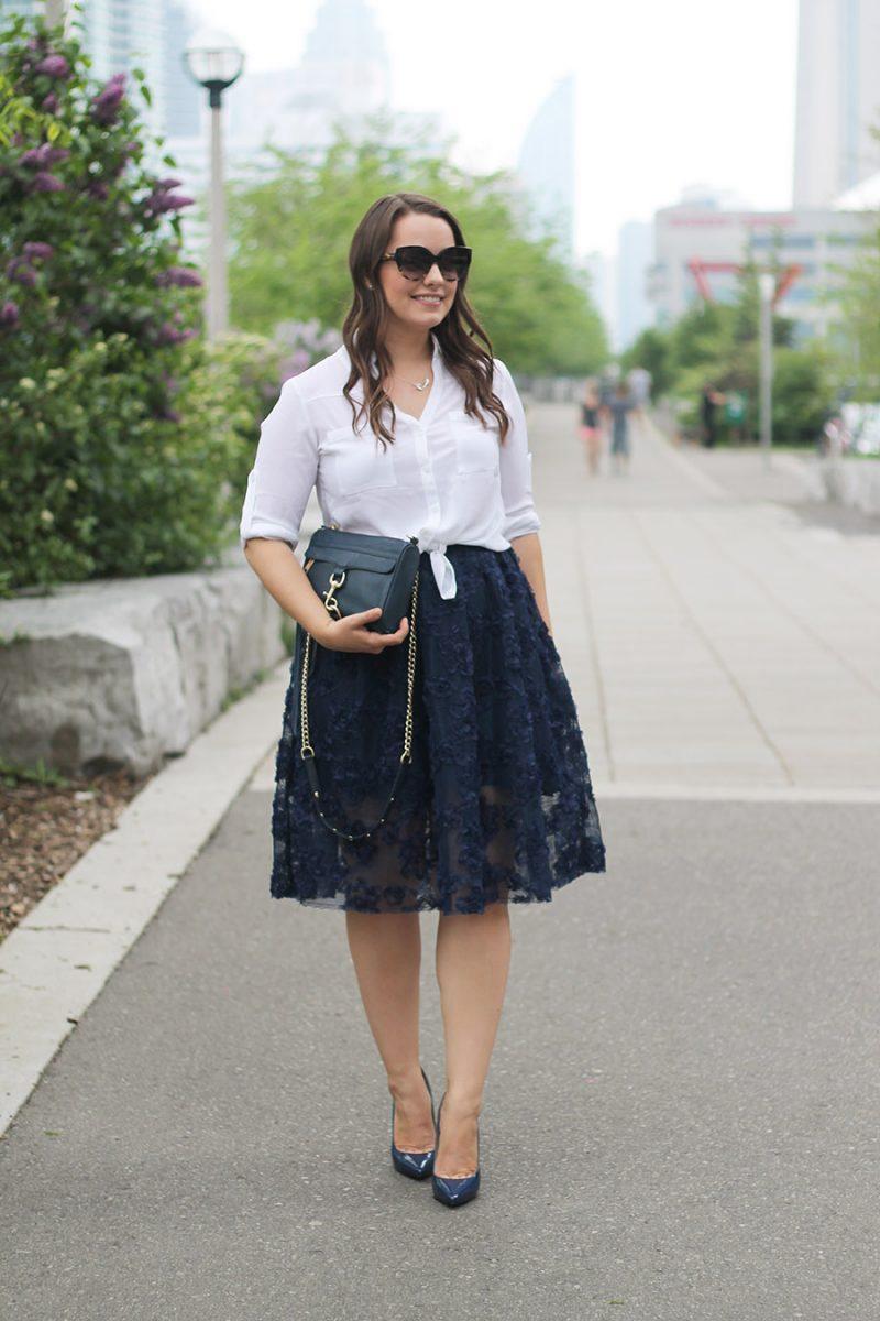 Outfit // Feminine Midi Skirt