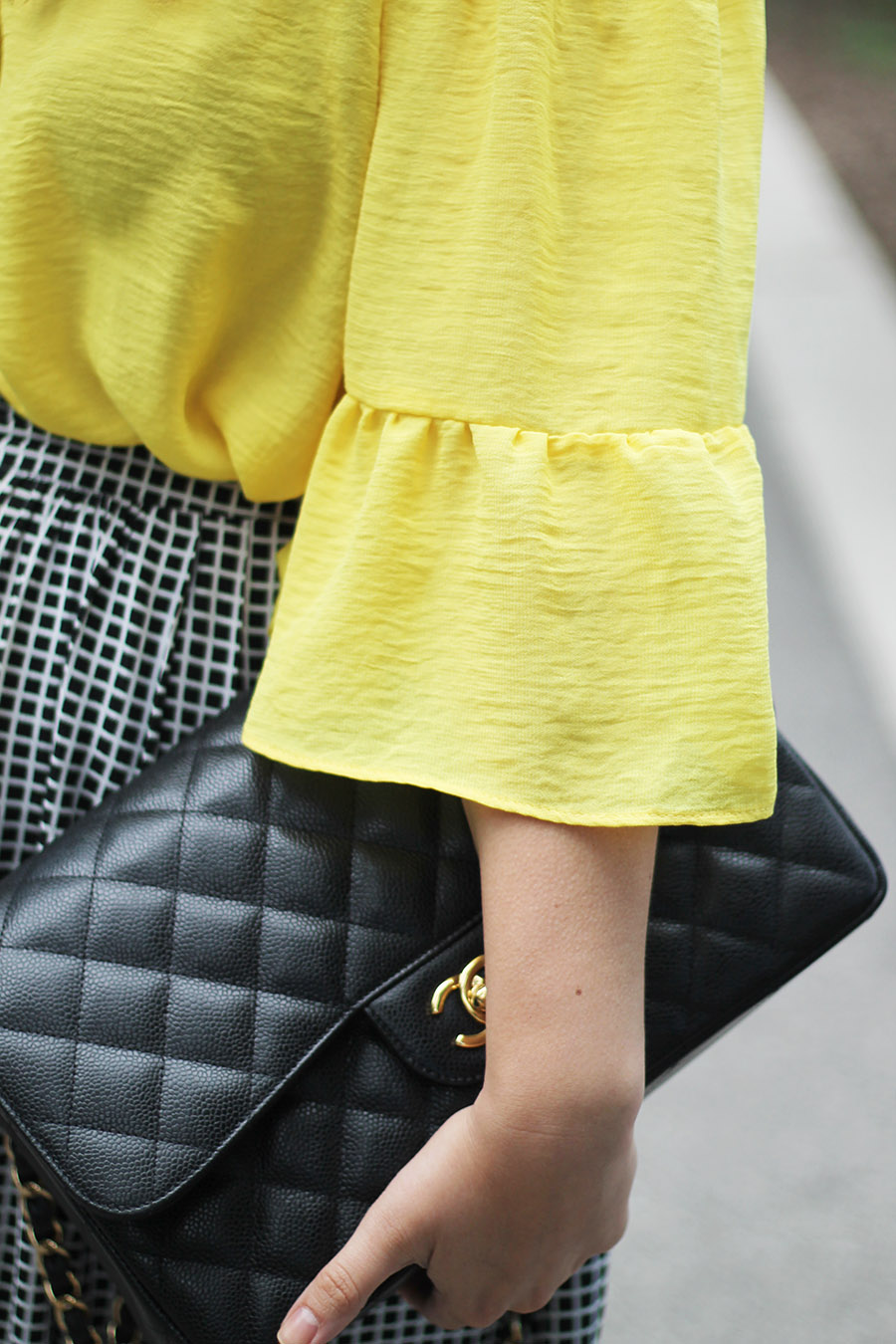 bell-sleeves-fashion-trends-and-chanel-quilted-handbag