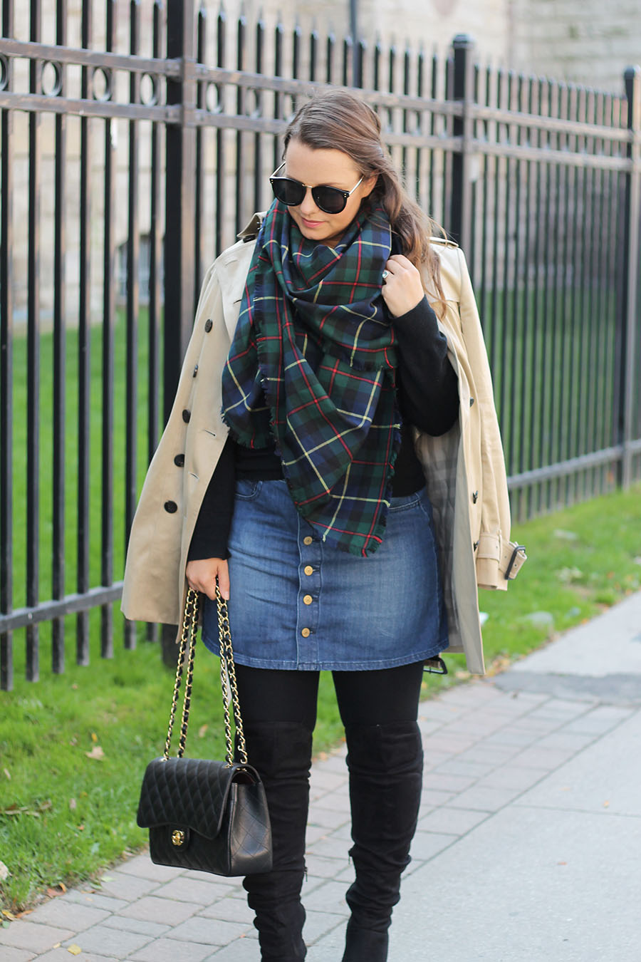 plaid-blanket-scarf-fall-outfit-ideas