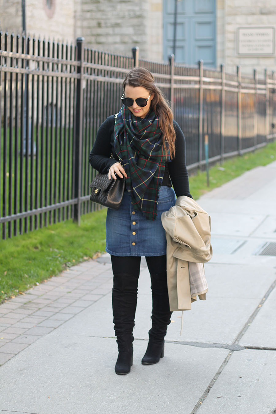 button-up-denim-skirt-blanket-scarf
