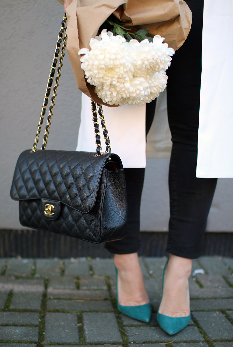 classic-chanel-handbag-and-christian-louboutin-suede-shoes