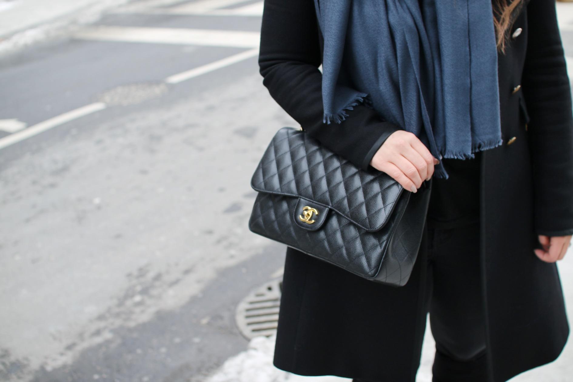 chanel-classic-flap-handbag-cashmere-scarf