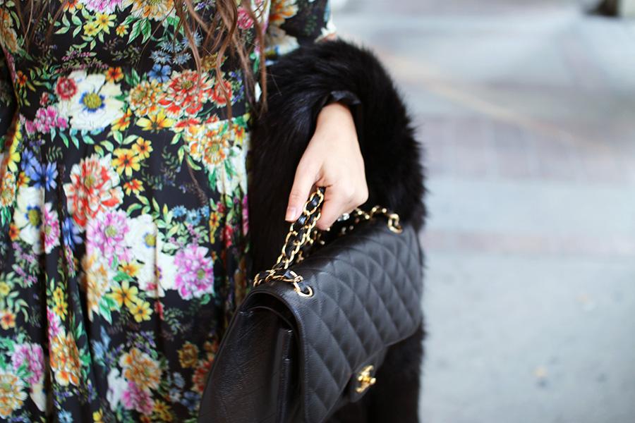 chanel-handbag-floral-dress-anthropologie