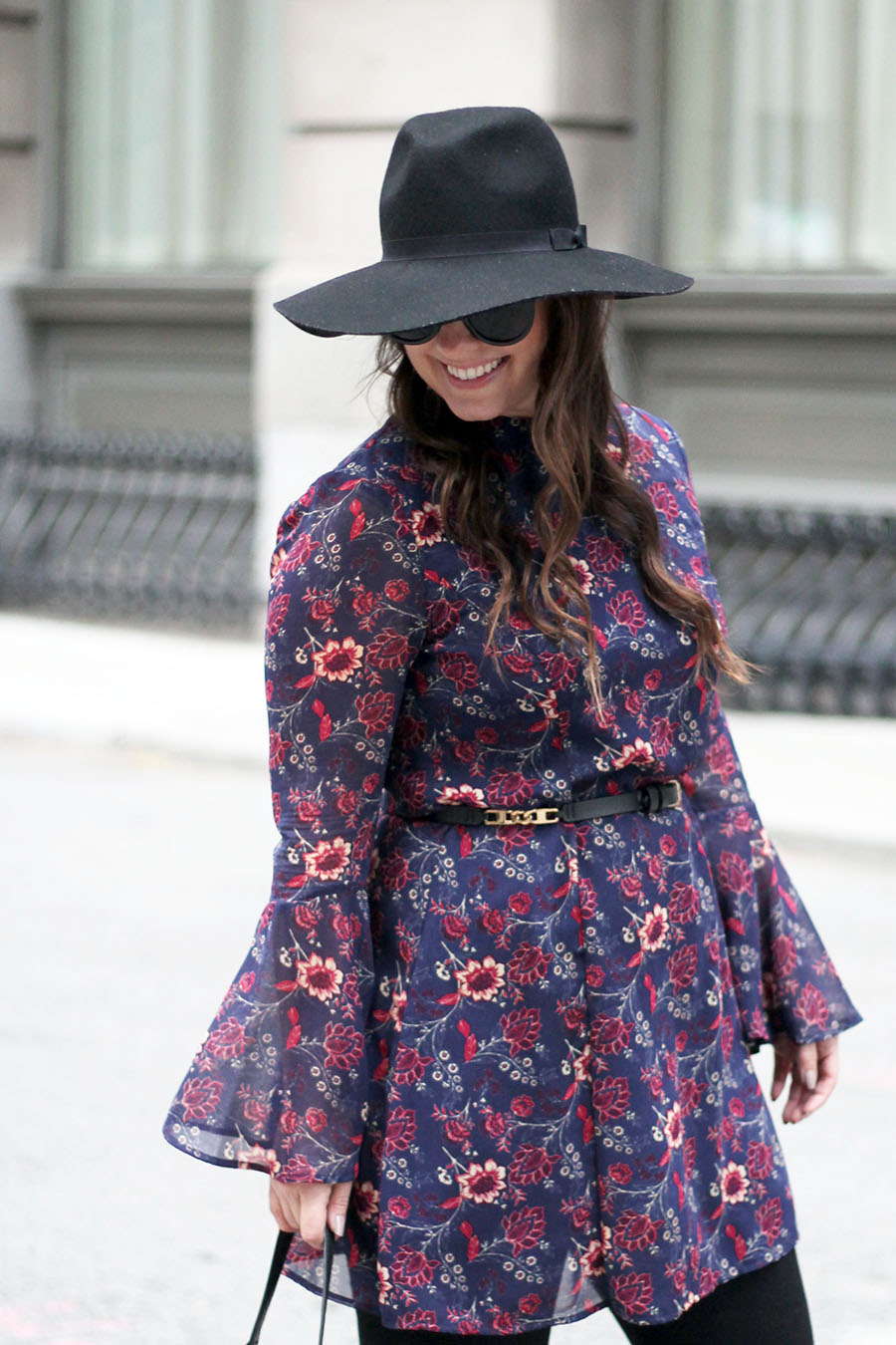 floral-dress-with-flared-bell-sleeves