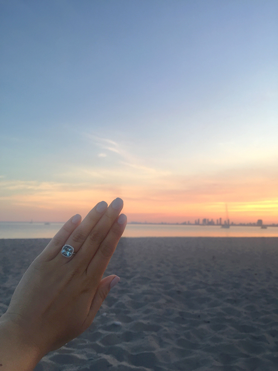 Aquamarine Engagement Ring, A Side Of Vogue, Toronto Blogger, Fashion and Lifestyle Blog