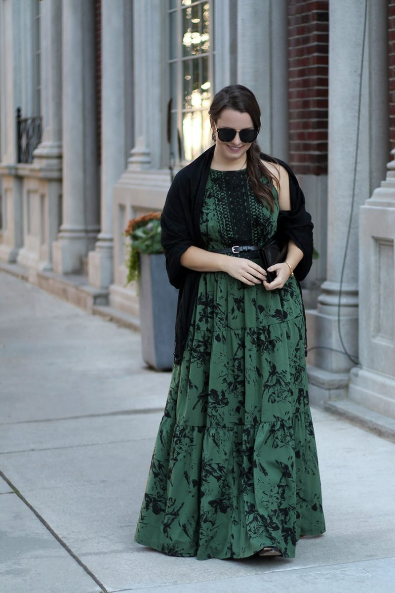 Outfit // How To Dress Up A Maxi Dress For A Date Night Look