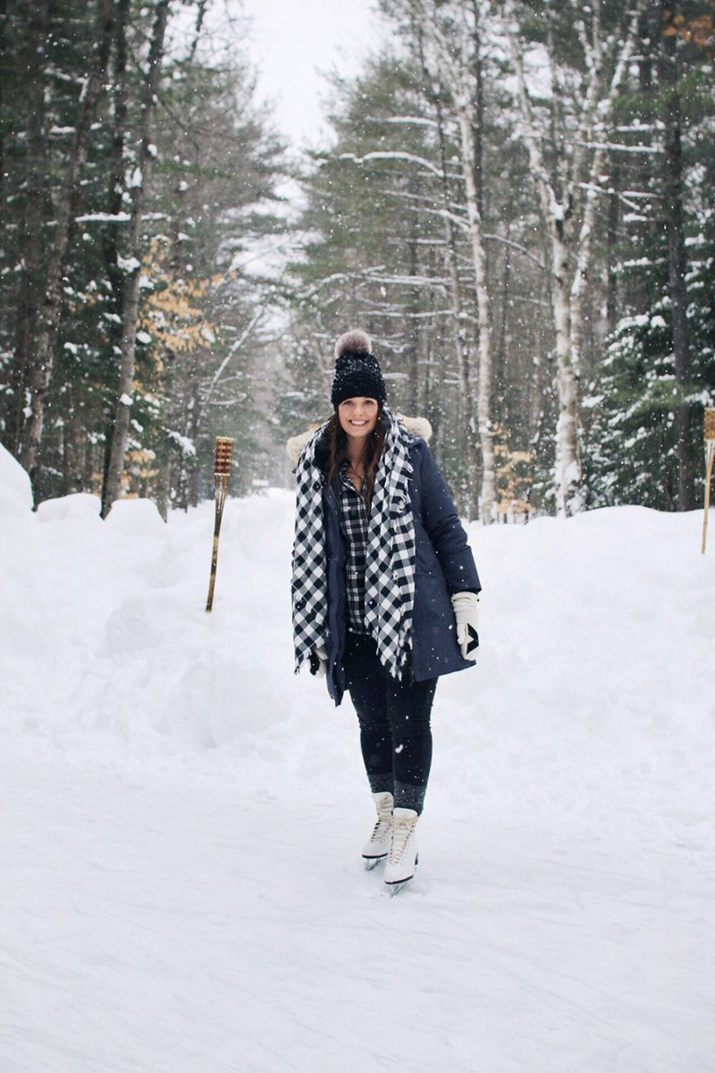 An Ice Skating Trail In Muskoka!
