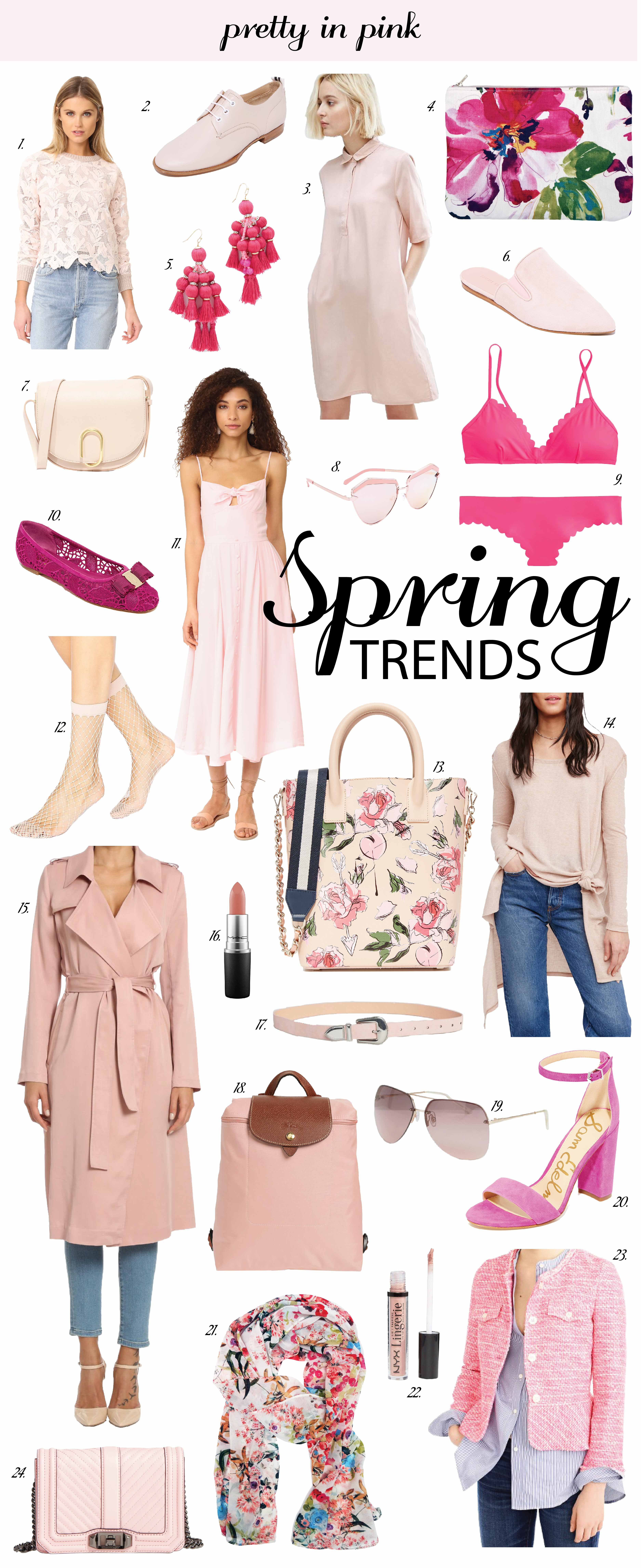 Spring Fashion Style Trends, Pink Clothes, Handbags, Accerssories