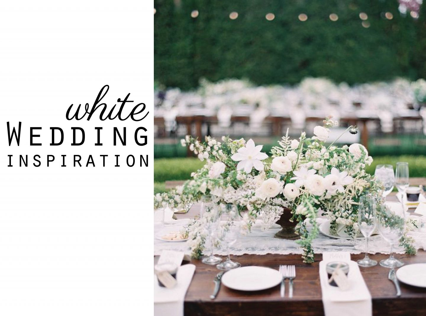 White Wedding Colour Inspiration Moodboard